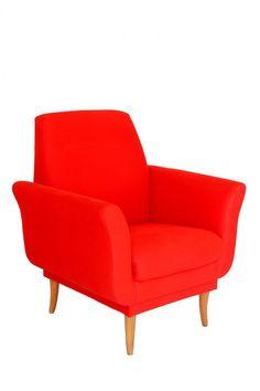 Poltrona de amamentação em vermelho: super moderna