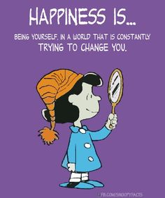 Happiness is just being yourself Charlie Brown Quotes, Charlie Brown And Snoopy, Peanuts Quotes, Snoopy Quotes, Peanuts Cartoon, Peanuts Snoopy, Snoopy Cartoon, Snoopy Love, Snoopy And Woodstock