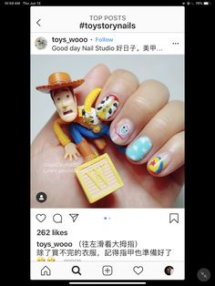Toy Story Nails, Toy Story Birthday, Nail Studio, Shellac, Nail Designs, Kawaii, Party Ideas, Design Ideas, Toys