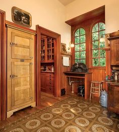 Restorers in the Pacific Northwest know about Karla Pearlstein, a design consultant who's a stickler for authenticity when it comes to kitchens for historic homes. Well, she finally got around to re-creating a kitchen for her own much-remodeled 1861 house in Portland, Oregon. (The 1960s kitchen she inherited was, oddly enough, situated in the front parlor.) The space she created—a main cooking room flanked by two pantries—admirably functions as a modern kitchen. Yet it presents no…