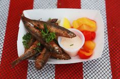 Fried anchovies from Bon Chovie, at Smorgasburg. Photo: Hiroko Masuike/The New York Times