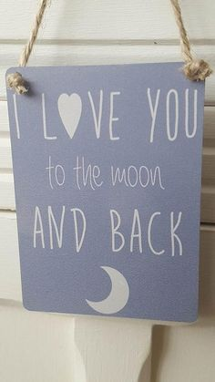 I LOVE YOU TO THE MOON AND BACK  MINI METAL CHIC N SHABBY SIGN