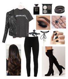 A fashion look from October 2017 featuring oversized t shirt, moto jacket and pull on pants. Browse and shop related looks. Casual Outfits For Teens, Teen Fashion Outfits, Edgy Outfits, Retro Outfits, Grunge Outfits, Cool Outfits, Women's Fashion, Riverdale Fashion, Bts Inspired Outfits