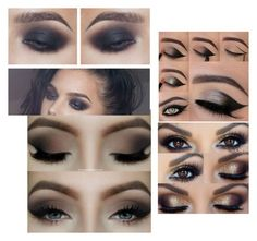 """""""Smoky eyes"""" by sty1e-queen ❤ liked on Polyvore featuring beauty"""