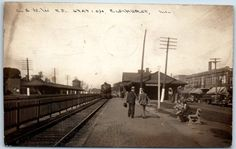 Elmhurst Illinois RPPC Photo Postcard Chicago North Western Railroad Depot | eBay