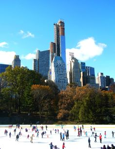 New York. Central park - Sun is back after Sandy.