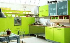 Green Kitchens :: Practic-ideas.com