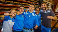 2016 italian judo team: Elios Manzi Men's −60 kg, Fabio Basile Men's −66 kg, Matteo Marconcini Men's −81 kg, Odette Giuffrida Women's −52 kg, Edwige Gwend Women's −63 kg. - Olympic Games Rio de Janeiro (2016, BRA) - © Franco Di Capua