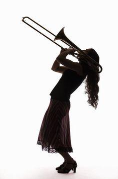 female trombone silhouette - Google Search