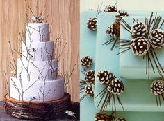 34 Amazing Cakes For Your Winter Wedding - Weddingomania