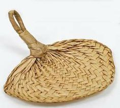 """Amazon.com: 7"""" Natural Woven Buri Palm Fans - Package of 18 Hand Fans - Great for Beach Wedding  $19"""