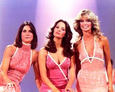 Charlie's Angels: Kate Jackson, Jaclyn Smith & Farrah Fawcett Majors. Kate Jackson, Farrah Fawcett, Jaclyn Smith, Good Morning Angel, Bionic Woman, Cheryl Ladd, After Life, Classic Tv, Classic Hollywood