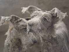 UK-based artist Helen Thompson aka Holy Smoke creates these expressive canines from wire, natural linen, and vintage textiles Sculpture Textile, Wire Tree Sculpture, Paper Mache Sculpture, Dog Sculpture, Art Textile, Animal Sculptures, Sculpture Ideas, Helen Thompson, Creation Art