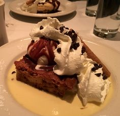 Americans do desserts. The Old Ebbitt Grill, Washington DC does amazing desserts including this blondie. Just heavenly!
