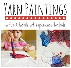 Yarn Paintings :: A Fun and Tactile Art Activity for Kids