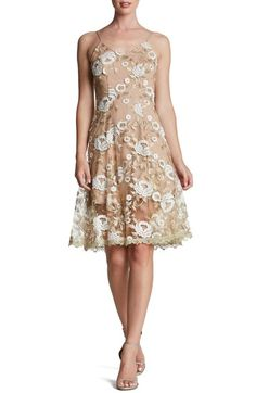 Dress the Population 'Anne' Embroidered Lace Fit & Flare Dress available at #Nordstrom