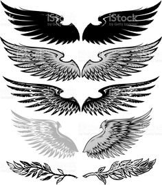 wings and laurel royalty-free stok vektör sanatı
