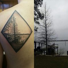 My Grandparent's lake done by Deanna (Personal Art Inc. in Lake Station Indiana)