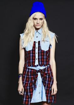 Evil Twin Run Riot Flanno Combo Crop Shirt and Evil Twin Run Riot Flanno Combo Skirt