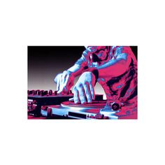 DJ Turntable Pop Art Print Poster Poster (120 ZAR) ❤ liked on Polyvore featuring home, home decor and wall art