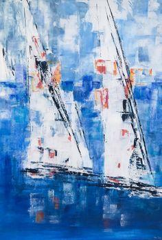 Sailing Boats - Large Canvas Painting