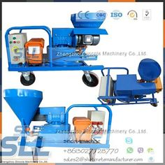 Mortar spraying plastering Machine with peristaltic pump