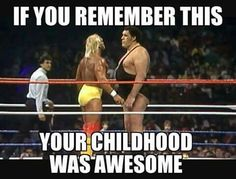 Hulk Hogan vs Andre The Giant 1980s Childhood, My Childhood Memories, Great Memories, Before I Forget, Nostalgia, Andre The Giant, School Memories, I Remember When, 80s Kids