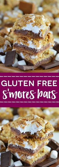 Gluten Free S'mores Bars (with dairy free option) from What The Fork Food Blog | whattheforkfoodbl...