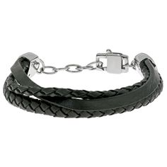 Stainless Steel and Multiple Rows Bracelet