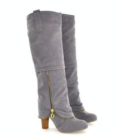 Ladies Zipper High Heel Knee High Boots Skid-proof...and they're affordable!!
