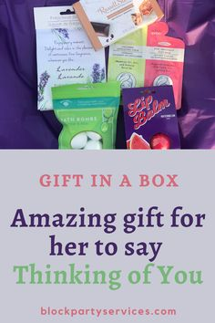 Birthdays, Back to School, or Just Thinking of You, let her know you got her back.  There are also gifts for the male and children as well no matter the gender or occasion, BlockParty Services-Gift In A Box are amazing gifts for any occasion.