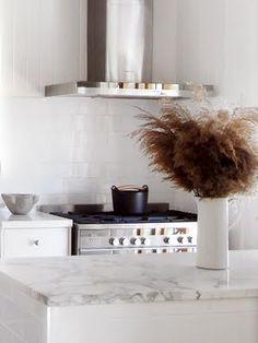simple white marble kitchen