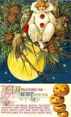 vintage halloween owls