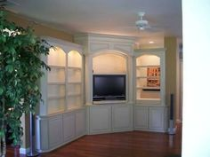 built in corner entertainment center | Built in Corner Theater by Coastal Wood Masters at CustomMade.com