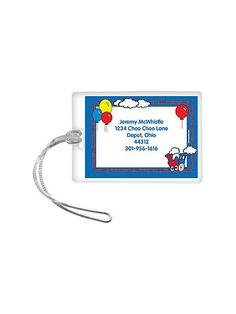 Train Party Personalized Luggage Tag