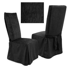 Chenille Onyx dining chair cover is one of our best selling products. Rich looking, durable - yet smooth to the touch. Perfect #slipcover choice for any decorating style, be it traditional or contemporary