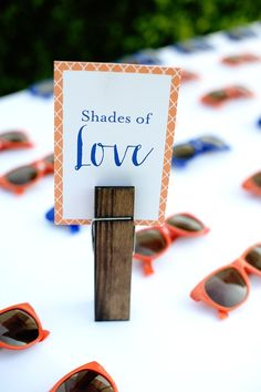 Some shady wedding favours!