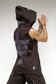Pacha PLay Mens Black Vest with color detail unique stitched design with pockets. $135.00, via Etsy.