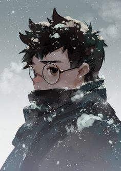 #随涂# 终于降温了。。。。。。。Harry Potter Manga Style