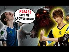 Miracle trying copy Dendi Pudge [Dota 2]