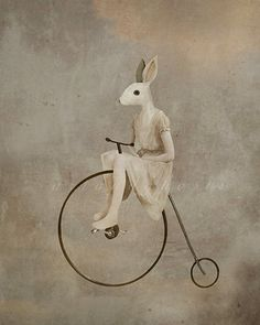A rabbit stole my penny. ArtandGhosts on Deviantatrt.