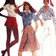 Flirty Tap Shorts/ Pants Culottes/ 1980s Pattern/ Hollywood waist ( VIP Fashion Australia www.vipfashionaustralia.com - international clothes shop )