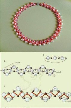 Free pattern for beaded necklace using seed beads and pearls. DIY bead jewellery making Seed Bead Tutorials, Jewelry Making Tutorials, Beading Tutorials, Beading Patterns, Seed Bead Jewelry, Bead Jewellery, Jewellery Making, Seed Beads, Beaded Necklace Patterns