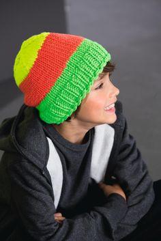 LANA GROSSA: Filati Kids & Teens 2 Modell 45: Mütze (Mille II Neon)