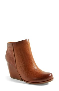 Kork-Ease® 'Natalya' Burnished Leather Demi Wedge Boot (Women) available at #Nordstrom