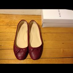 Nine West Classica Ballerina Flats Wine Leather 8 Worn 5 times. Excellent condition. no trade. Nine West Shoes Flats & Loafers