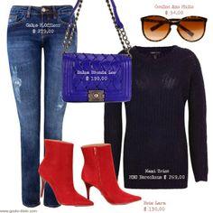 Moda de Rua Maxi tricô marinho (Streetstyle) - Como usar maxi tricô