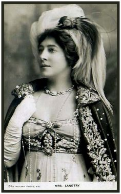 Lily Langtry, mistress of King Edward VII of the United Kingdom. Description from pinterest.com. I searched for this on bing.com/images
