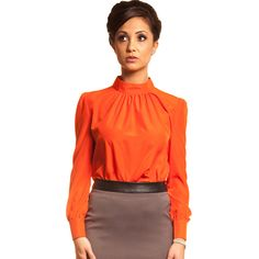 orange sweater outfit   and Pearls – Womens Business Clothing and Work Wear for Women