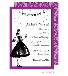 Celebrate In Style New Years Party Invitations New Years Eve Invitations, Holiday Invitations, Party Invitations, Party Favors, Invitation Design, Invitation Cards, New Years Eve Music, Casino Decorations, New Year Celebration